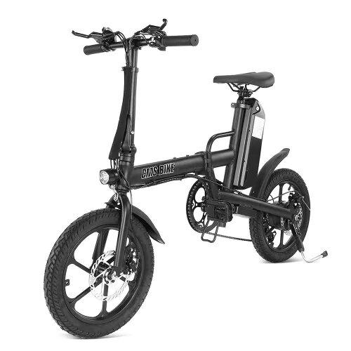 CMSBIKE F16PLUS 250W 13Ah Black 16 Inches Folding Electric Bike 25km/h 80km Mileage Intelligent Variable Speed System