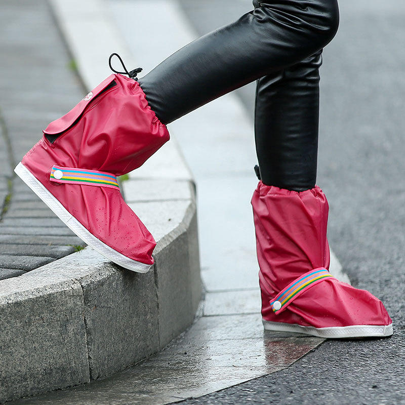 4 Colors Waterproof Men Women Rain Boots Cover Non-slip Rainbow Rain Boots