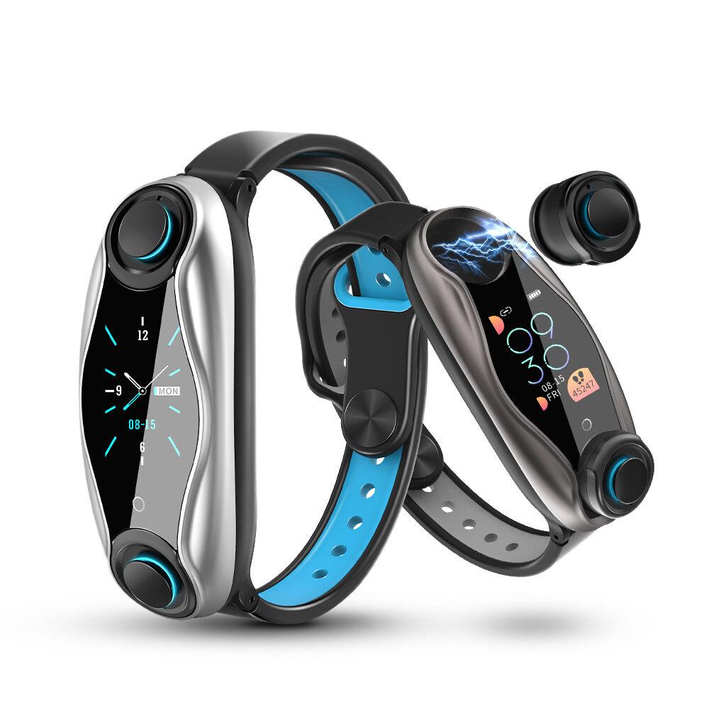 LEMFO LT04 Wireless bluetooth Earphone Color Screen Wristband BT5.0 Hear Rate O2 Monitor Smart Watch