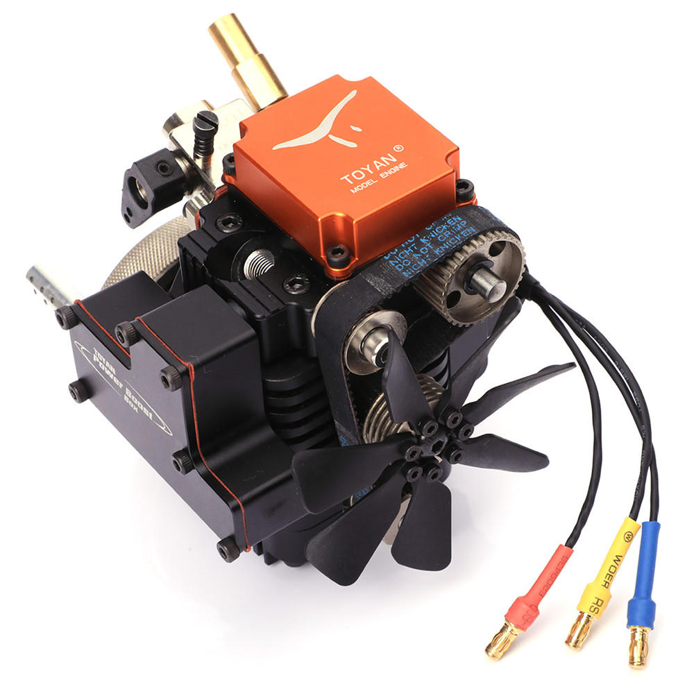 4 Stroke RC Engine Gasoline Model Engine Kit Starting Motor For RC Car Boat Airplane Toyan FS-S100G(w)