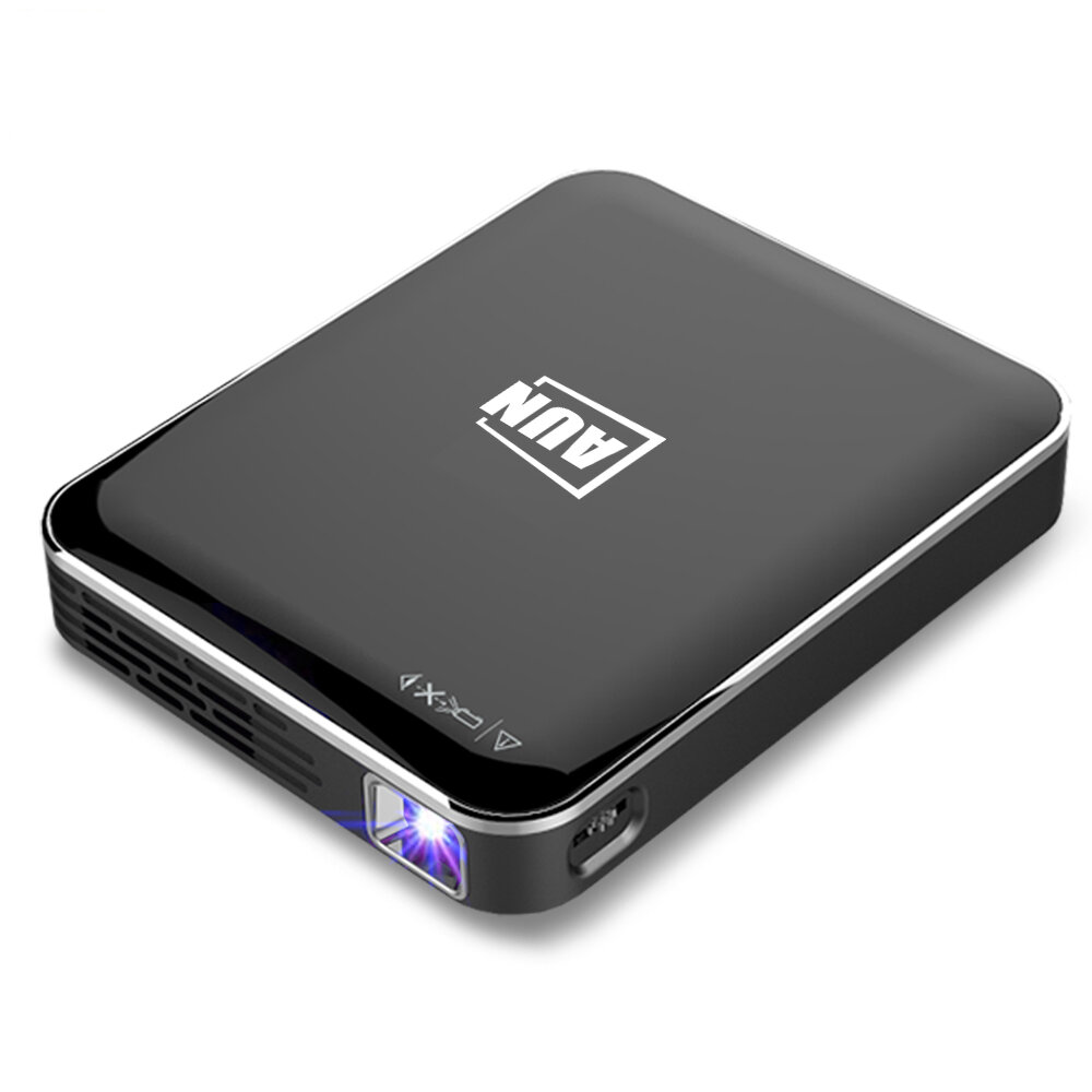 AUN X3 Mini Projector 1080P Android_IOS Phone Screen Mirroring Home Cinema 3D beamer 3200mAH Battery Portable projector