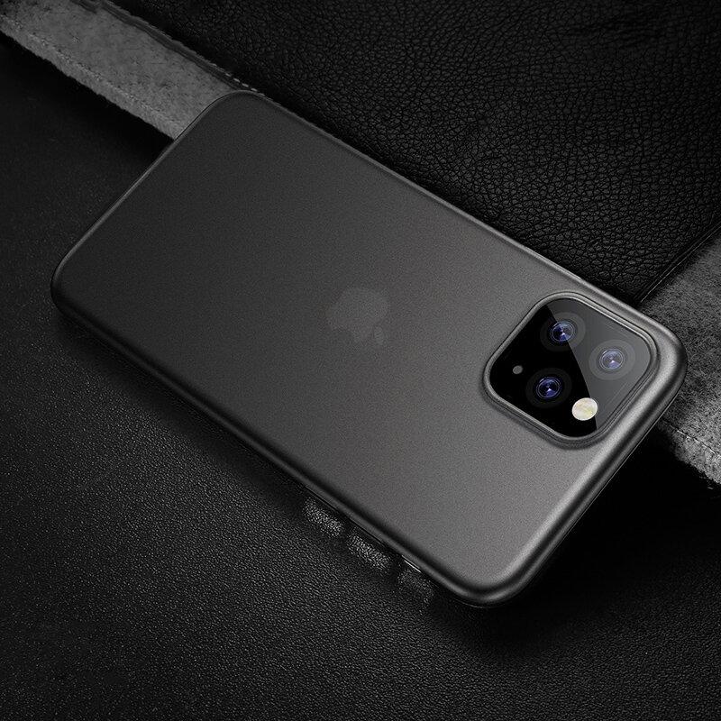 Cafele Ultra Thin Anti-scratch Mat gjennomsiktig TPU beskyttelsesetui til iPhone 11 Pro Max 6,5 tommer