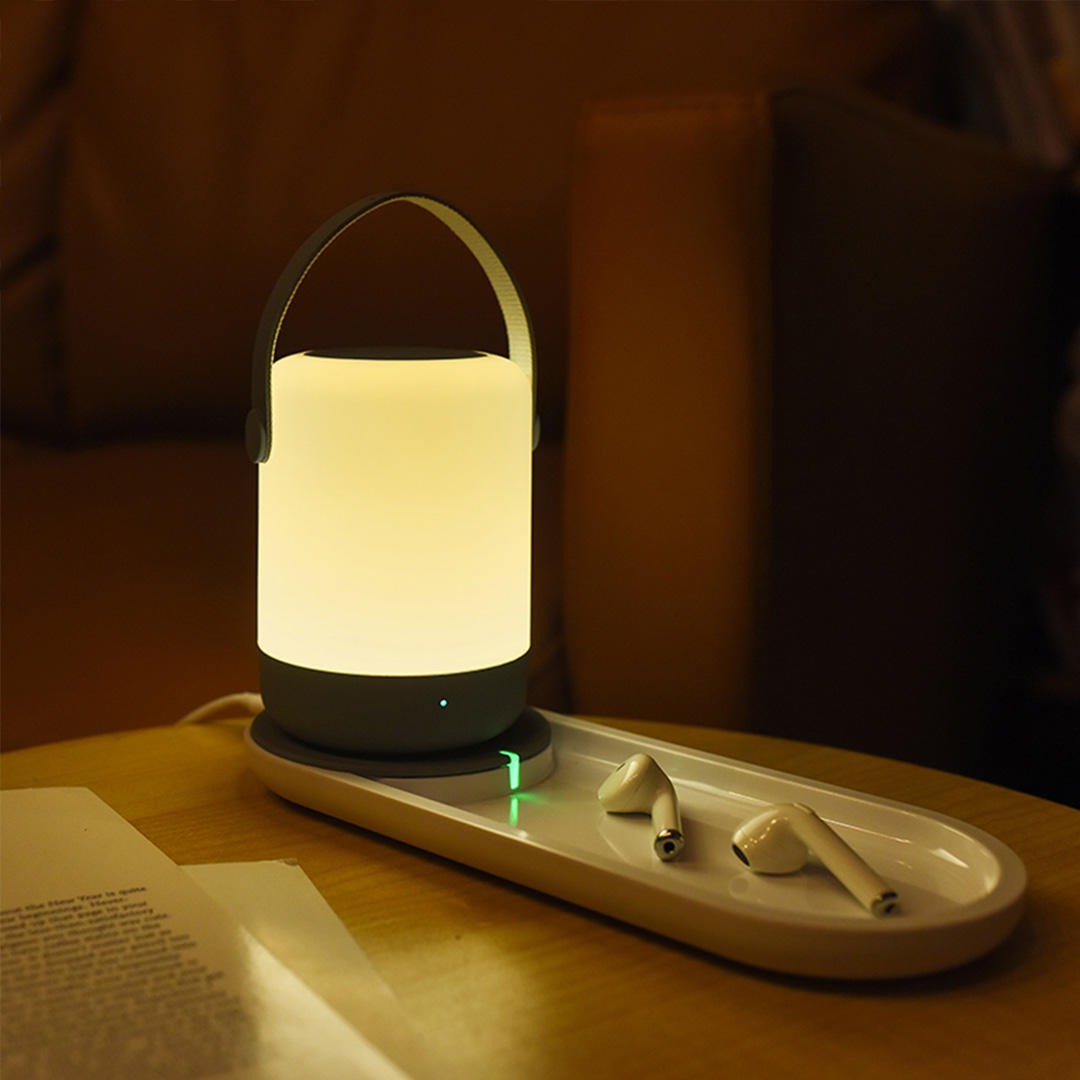 ZHIJI Portable LED USB Night Light Touch Operation Support 10W QI Wireless Charging Home Decorative Night Light From Xiaomi Youpin