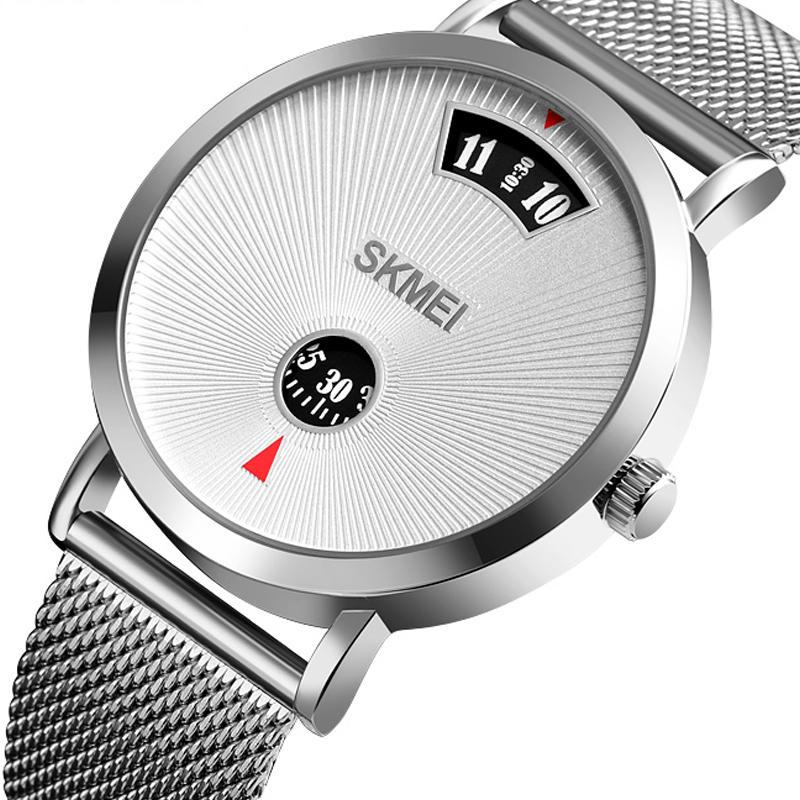 SKMEI 1489 Creative Dial Design 30M Waterproof  Business Style Men Watch Quartz Watch