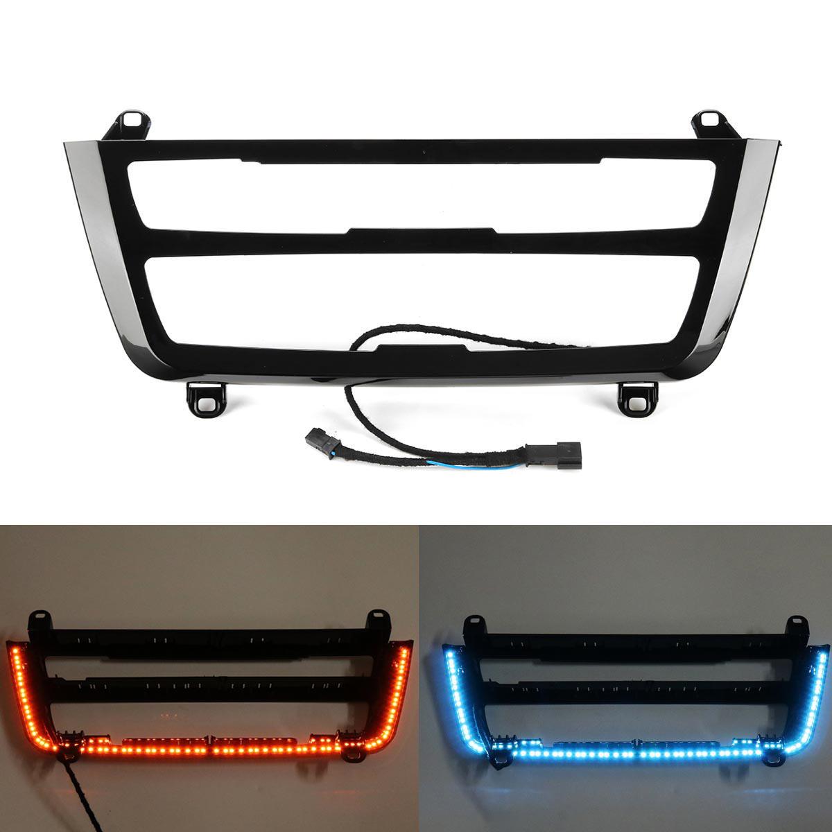 Illuminated LED Dual Color AC Radio Trim Retrofit For BMW 3 4 M3 M4 Series F30 F31 F32 F33 F34 F36 F80 F82 F83