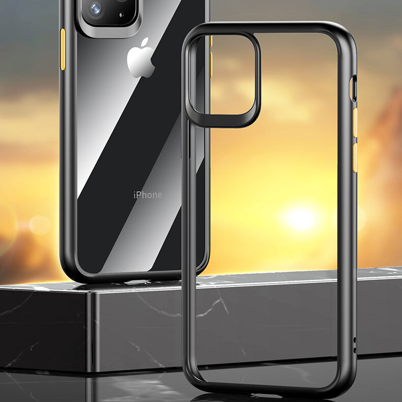Rock Armor Shockproof Transparent Soft TPU+Hard PC Protective Case for iPhone 11 6.1 inch