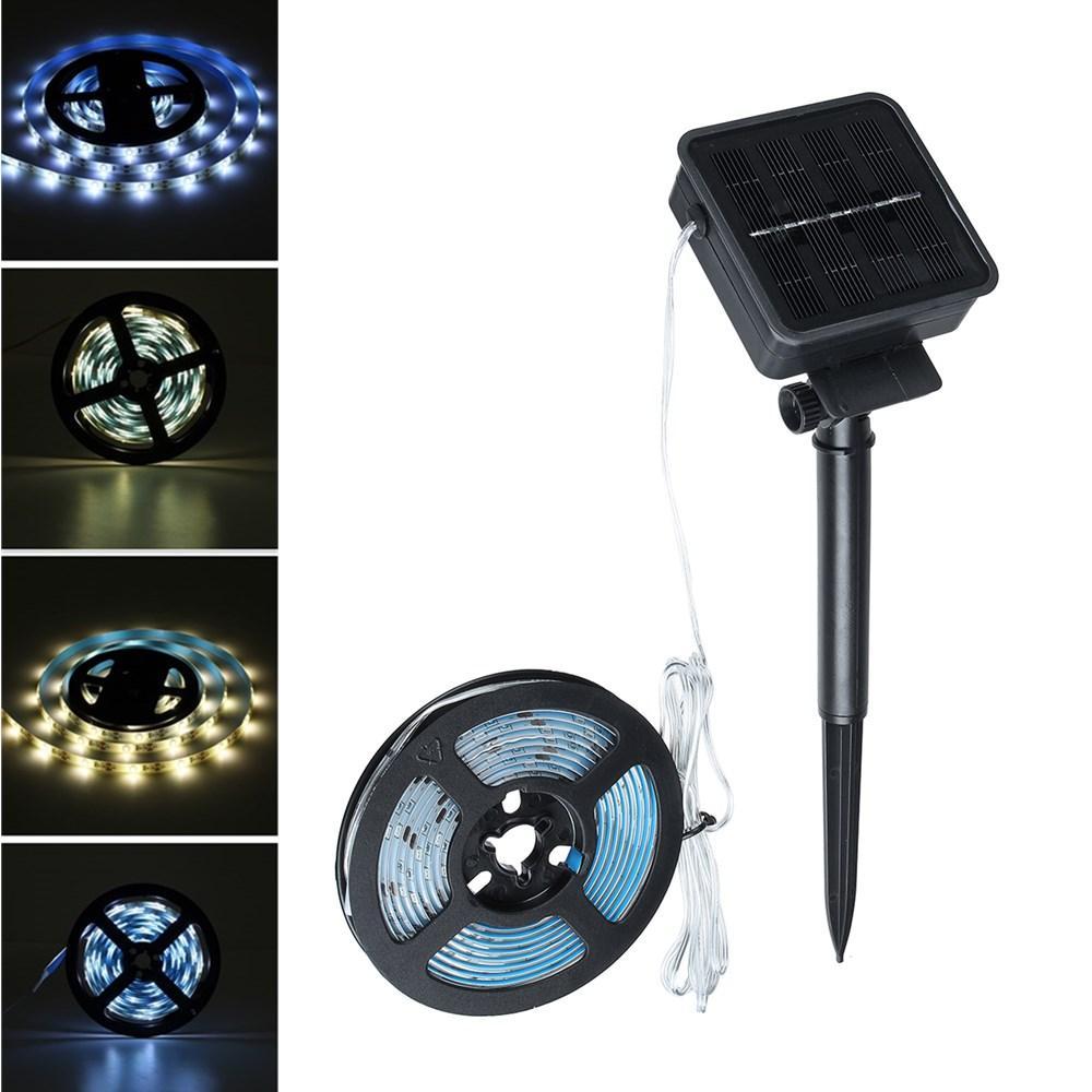 DC2V Solar Powered Waterproof LED Strip Light Outdoor Fairy Lamp for Outdoor Garden Garland Decor