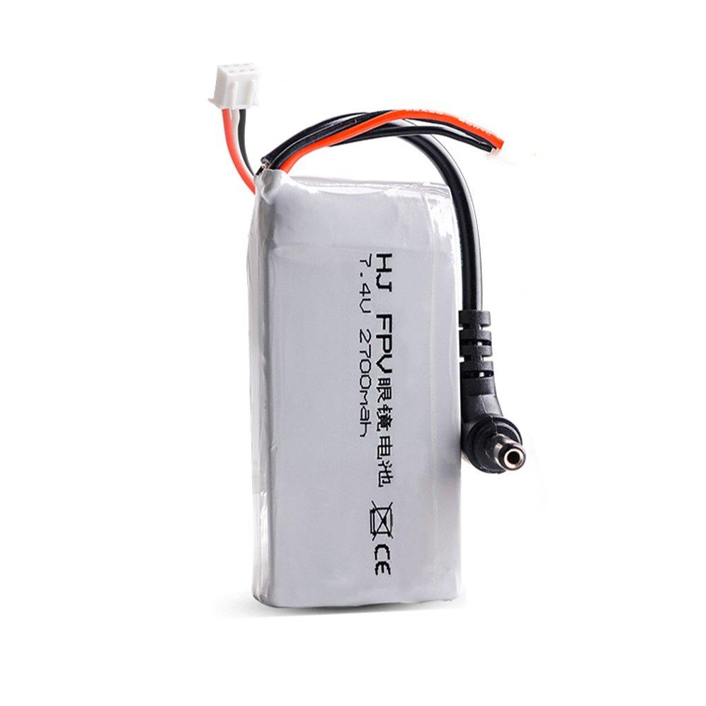 2S 7.4V 2700mAh Lipo Battery for Racing Drone Fatshark Skyzone FPV Goggles