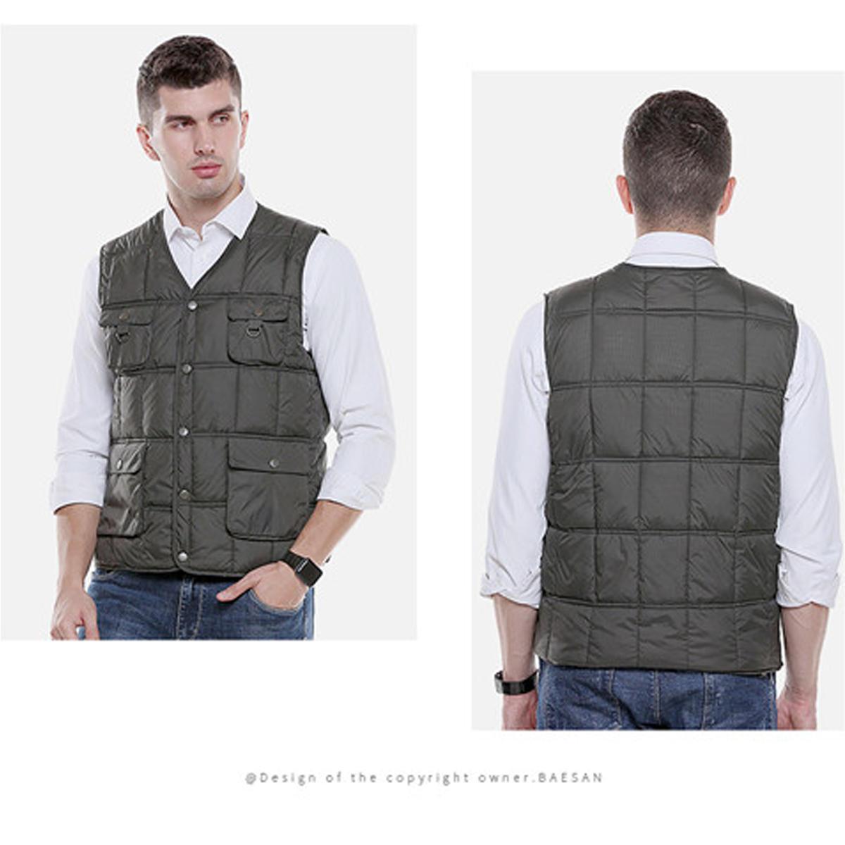 Electric Heating USB Sleeveless Vest Winter Heated Outdoor Fishing Jacket