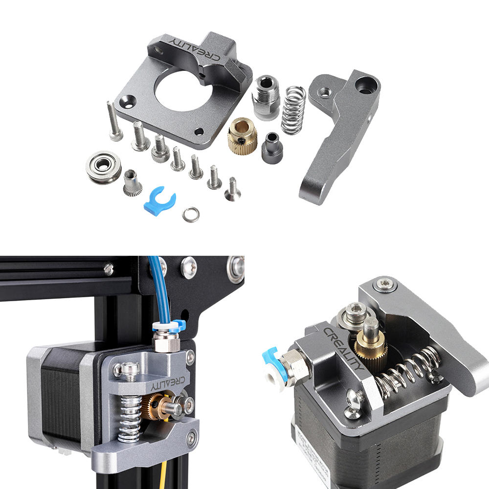 Aluminum Block Silver Metal Extruder Kit for Creality 3D Ender 3/3 Pro/5/CR-10/10S 1.75mm Filament