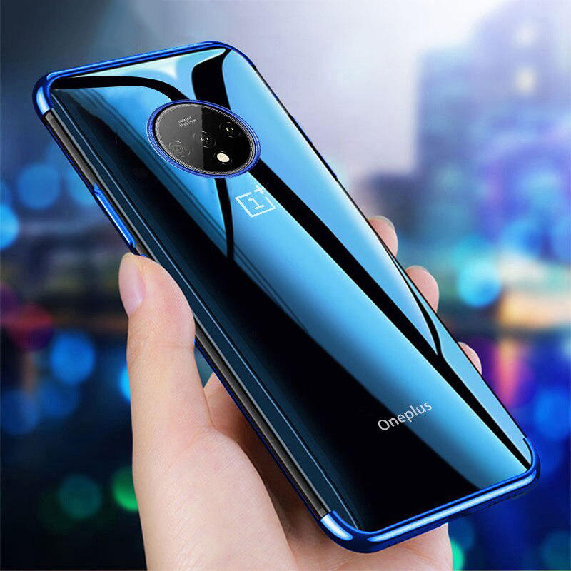 Bakeey Plating Shockproof Transparent Soft TPU Protective Case for Oneplus 7T