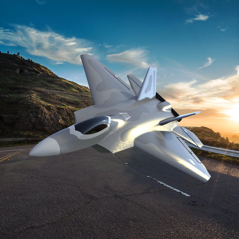Eachine Mini F22 Raptor EPP 260mm Lebar Sayap 2.4G 4CH Gyro 6-Axis RC Pesawat Jet Trainer Warbird Sayap Tetap RTF One Kunci Aerobatic untuk Pemula