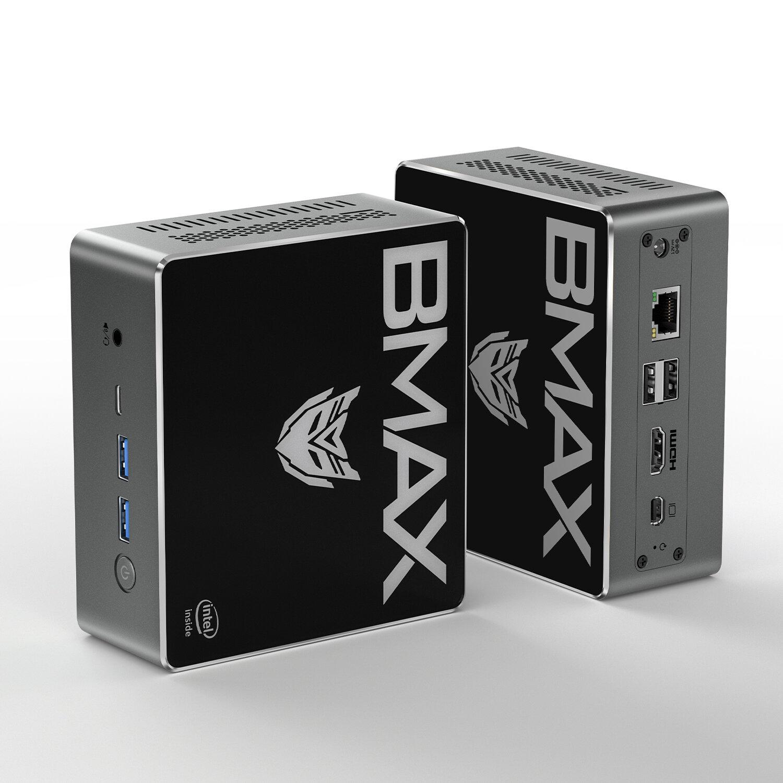 Bmax B4 Pro Mini PC Intel Core i3-8145U 8GB DDR4 256GB NVMe SSD with Two Channel Speaker Intel 9th Gen UHD Graphics 620 Dual Core 2.1GHz to 3.9GHz BT5.0 HDMI Type C Win10 WiFi - 8GB 256GB