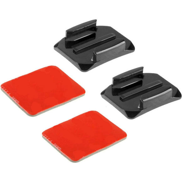 PULUZ Curved Surface Mount 2 Adhesive Mount Sticker for Gopro SJCAM Xiaomi Yi Camera