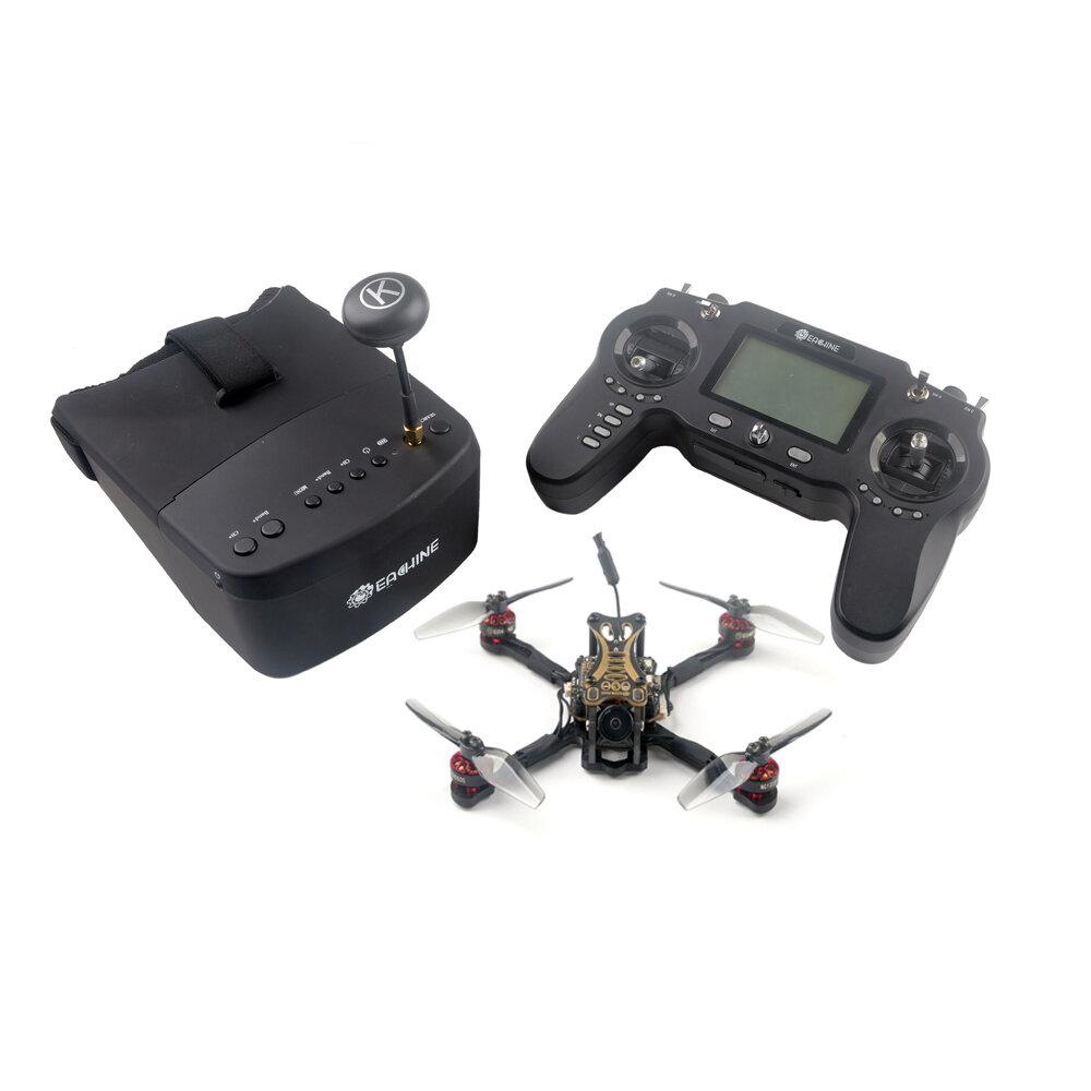 Eachine Novice-III 135mm 2-3S 3 Pollici FPV Racing Drone RTF e vola di più con 5.8G 40CH EV800 Occhiali 2.4G ER8 Trasmettitore