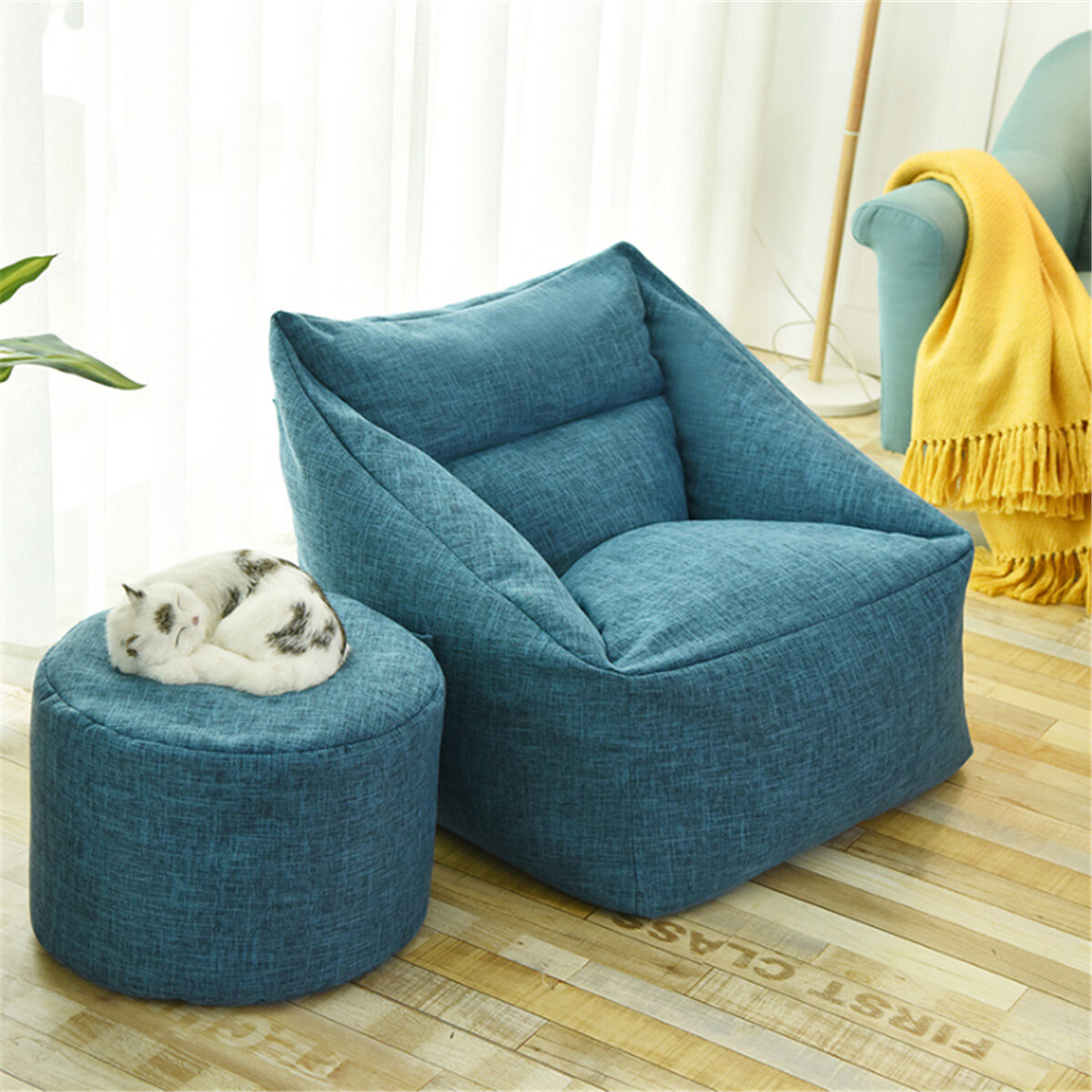 Pleasant Large Bean Bag Chair Covers Lazy Sofa Indoor Seat Armchair Washable Cozy Game Lounger Gmtry Best Dining Table And Chair Ideas Images Gmtryco