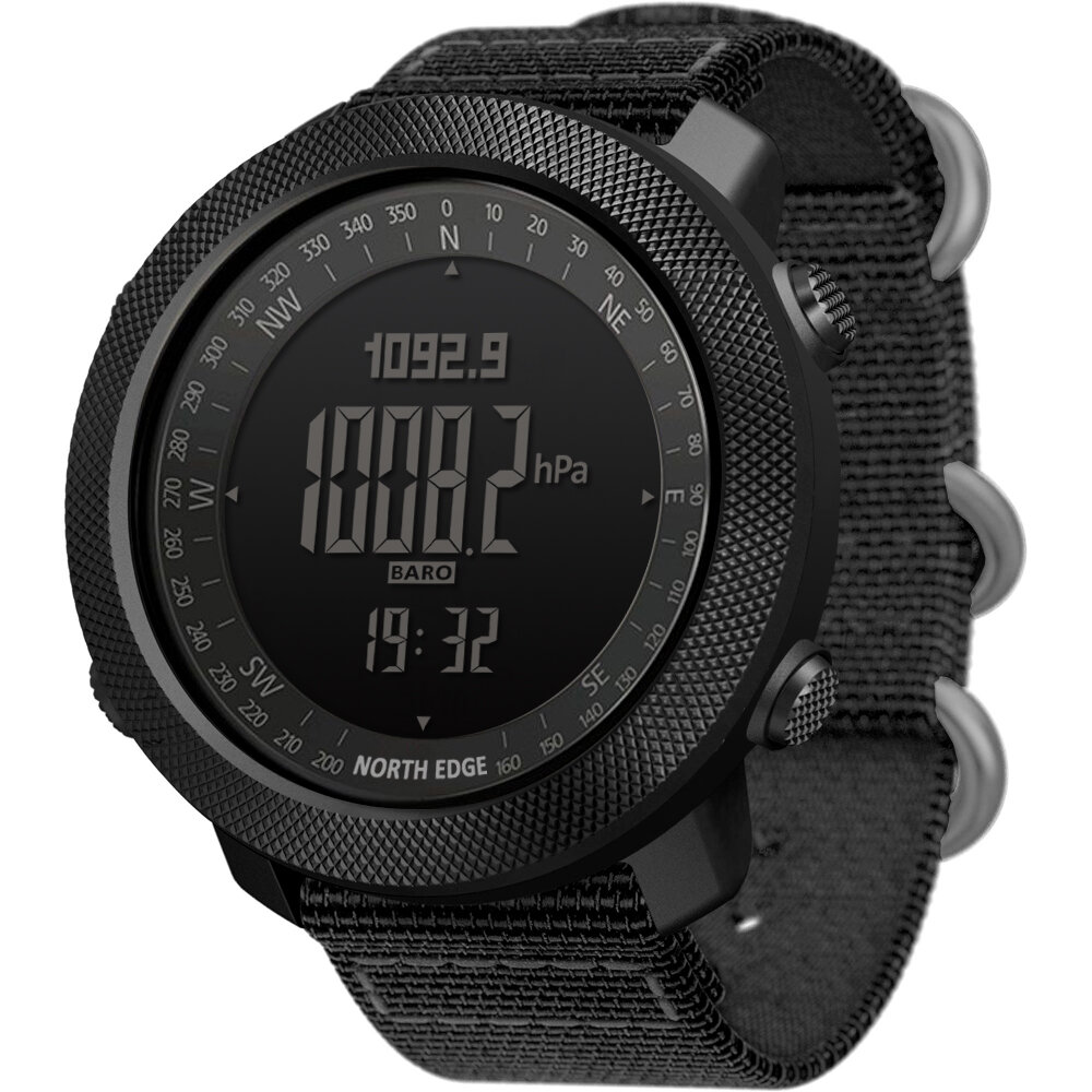NORTH EDGE Apache2 Altimeter Barometer Compass Temperature Display 50m Waterproof Outdoor Sport...
