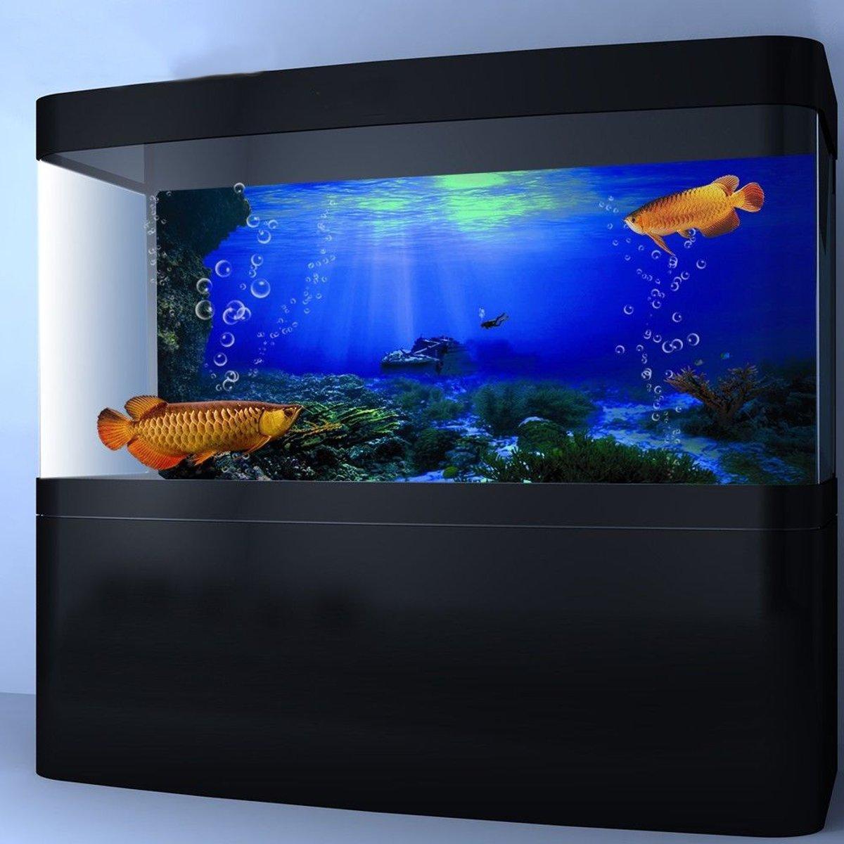 Seabed Wreck PVC Aquarium HD Background Poster Fish Tank Decorations Landscape