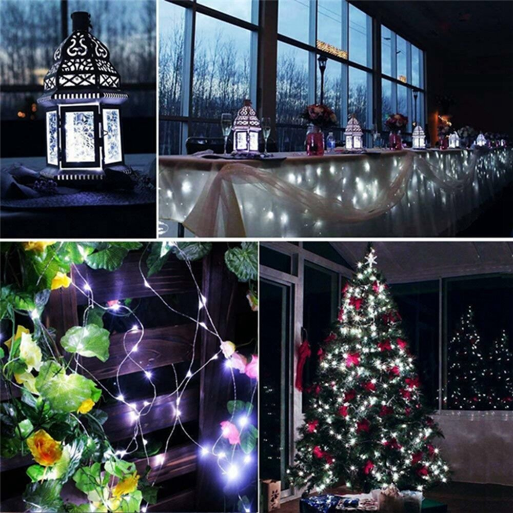 12M 100LED 8 Modes String Light USB Holiday Christmas Decorative Lamp for Home Indoor Party Wedding Garland