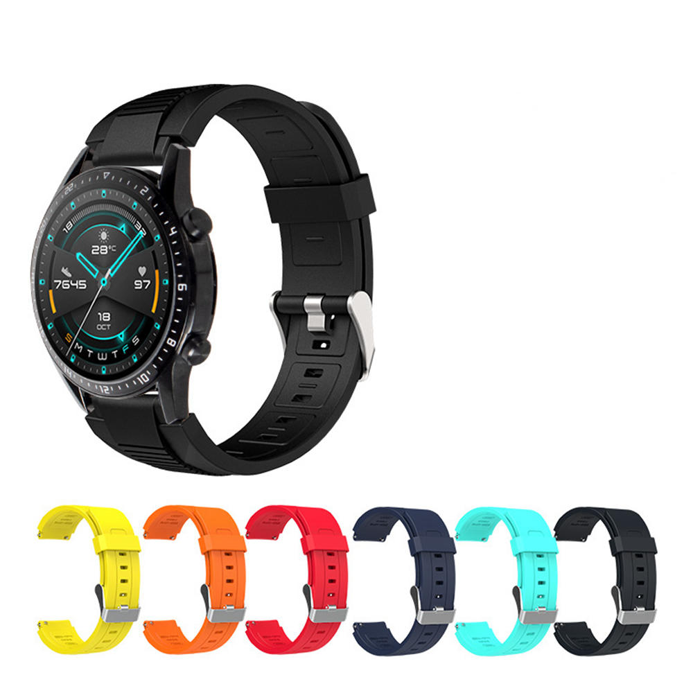 Bakeey 22mm Colorful Silicone Watch Band for Amazfit GTR 47mm Huawei Watch GT 2 Smart Watch