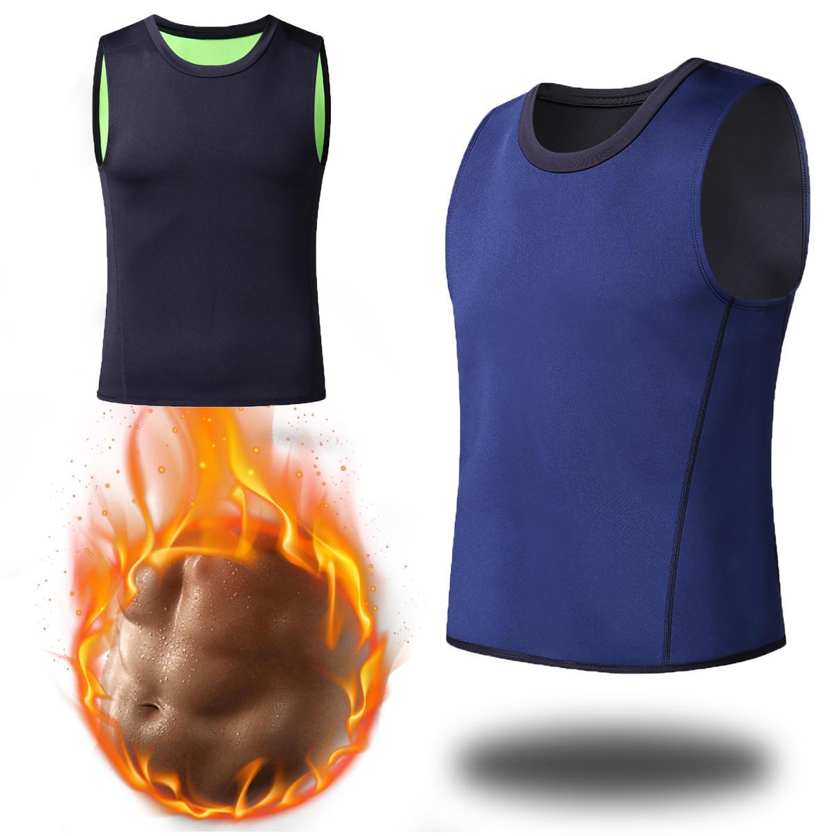 Pánské štíhlé tělo Shaper Vest Neopren Sportovní Sauna Pot Tričko Fat Burning Waist Trainer