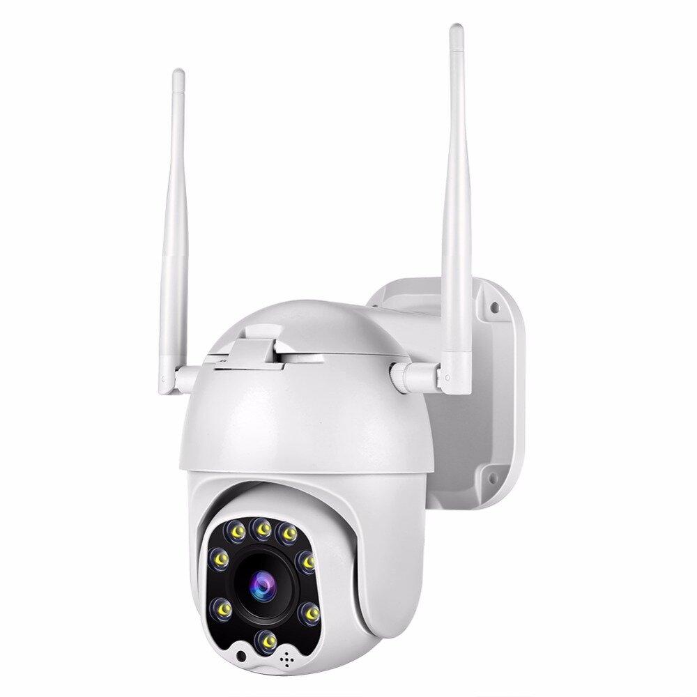 Bakeey HD820 8 LED Warm Light ONVIF Smart WIFI IP Camera IP66 Outdoor Dome Speed Camera Two-way Audio TF Card & Cloud Storage CCTV Monitor