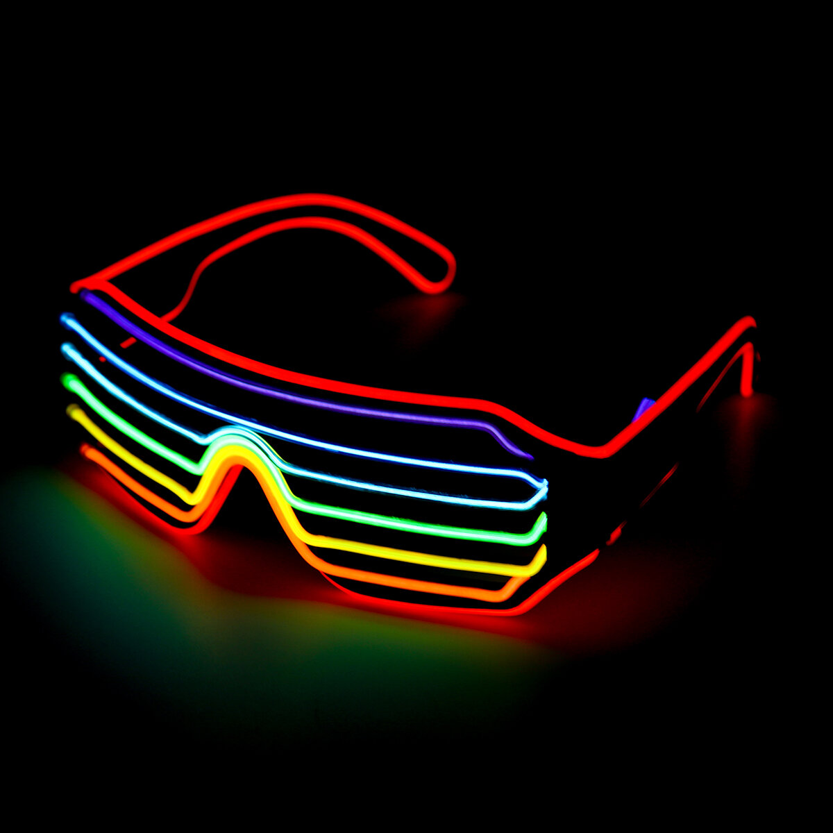 4 Modes LED Glow EL Glasses Party Flashing Festival Neon Wire Bar Party Light Up Goggles