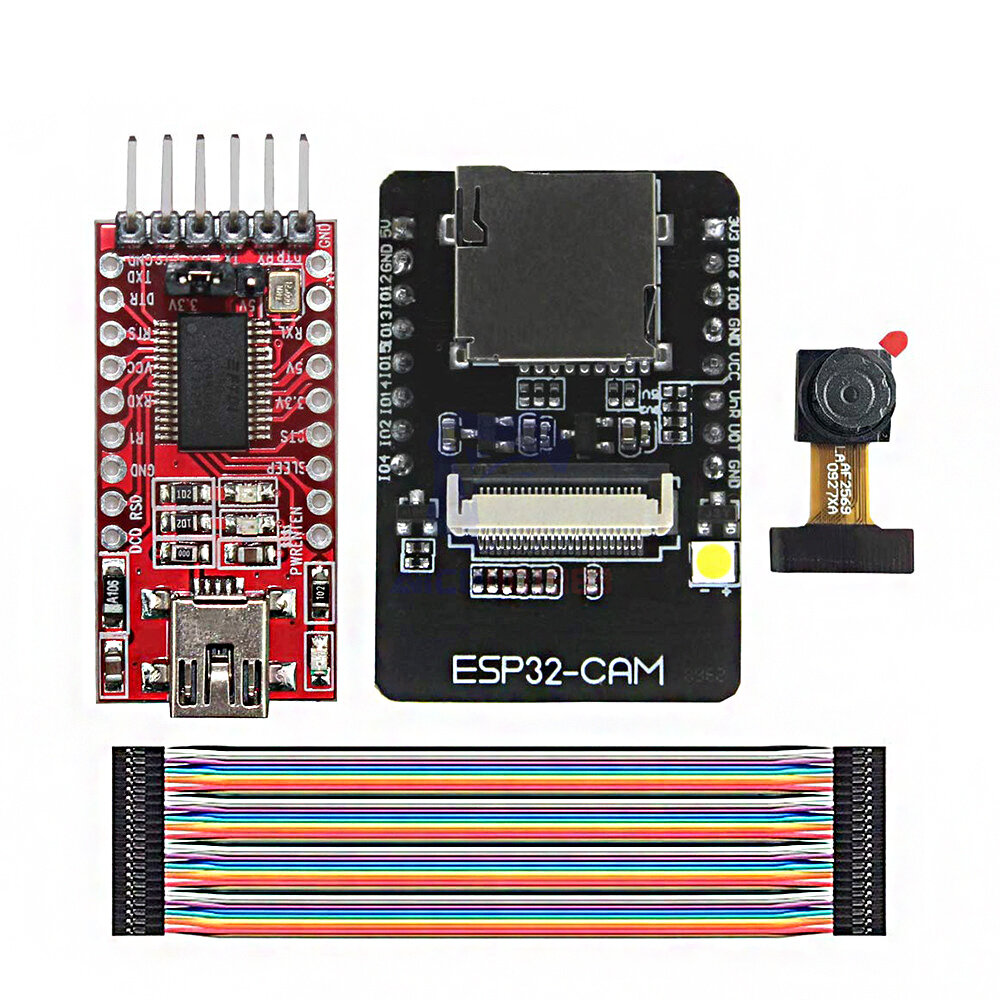 ESP32-CAM WiFi + bluetooth Development Board ESP32 with FT232RL FTDI USB to TTL Serial Converter 40 Pin Jumper Wire Geekcreit for Arduino - products that work with official Arduino boards