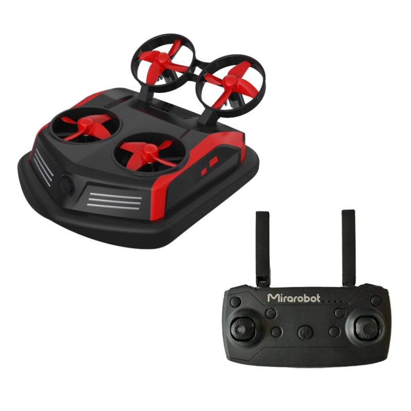 Mirarobot Domain S200 LED 3-in-1 Flying Air Boat Land Driving Mode Detachable RC Drone Quadcopter RTF