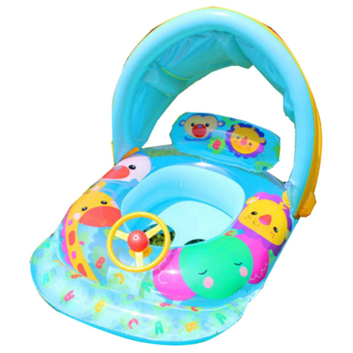 Bebé niños flotador asiento inflable barco anillo de natación diversión natación Piscina con sombrilla