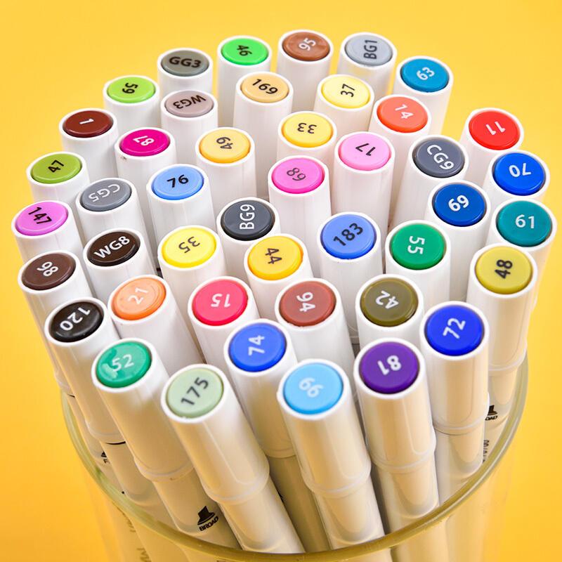 XIAOMI Ecosystem Deli 70700 1Pcs 12/24 Colors Marker Pens Set Double-headed Marker Pen Hand-painting Artist Marker Pens Gifts for Kids Children