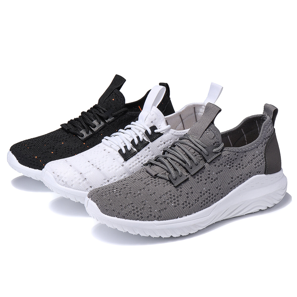 Men's Super Ultralight Sneakers Mesh Breathable Fly Weave Outdoor Sports Casual Shoes