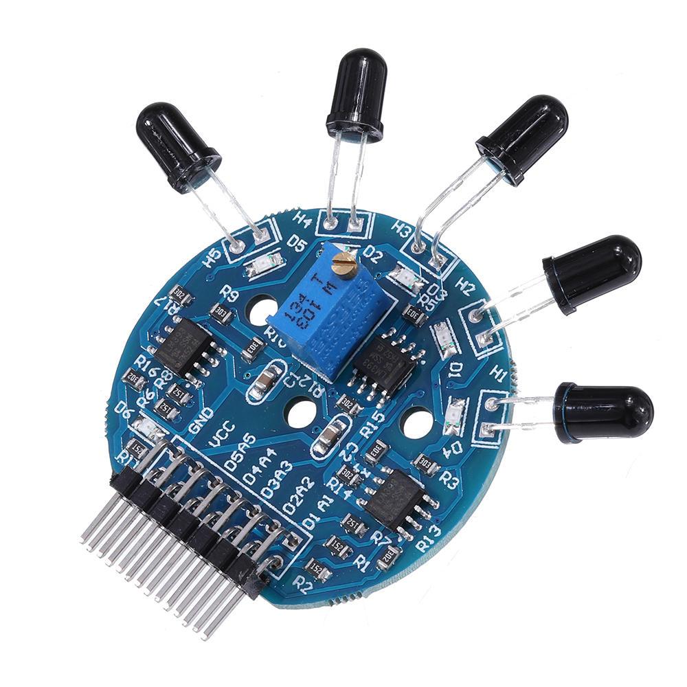 5 Channel Flame Sensor Module Analog Dgital Dual Output Fire Extinguishing Robot Flame Alarm System Module