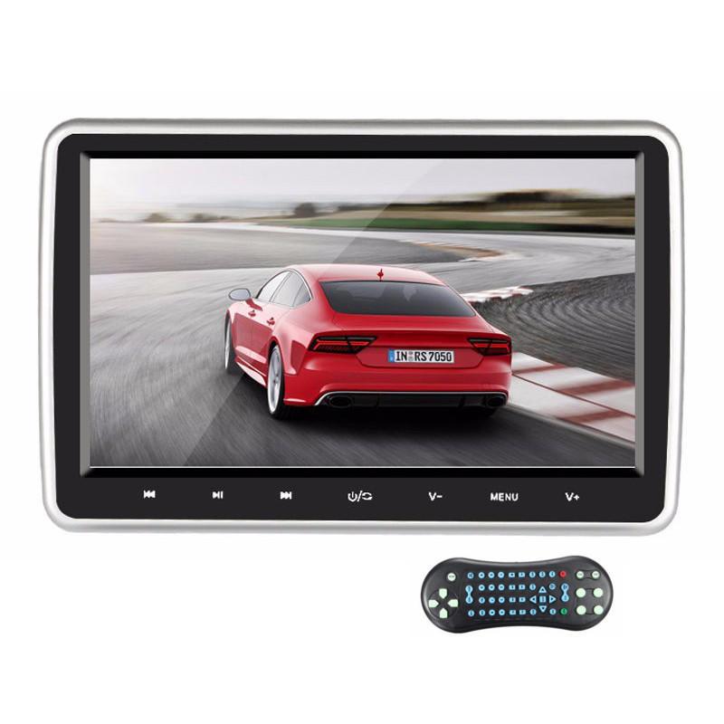 10.1 इंच HD कार हेडरेस्ट मॉनिटर डीवीडी प्लेयर रियर सीट एंटरटेनमेंट सिस्टम टच बटन स्क्रीन HDMI पोर्ट क