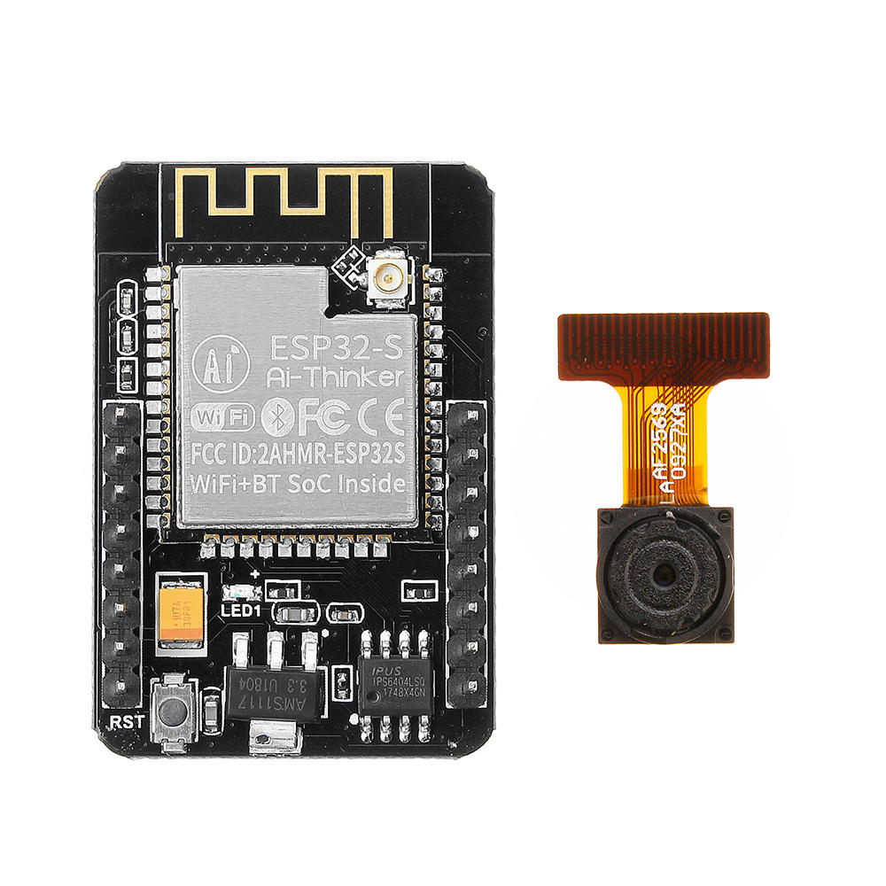 2Pcs Geekcreit® ESP32-CAM WiFi + ब्लूटूथ कैमरा मॉड्यूल विकास बोर्ड ESP32 कैमरा मॉड्यूल OV2640 के साथ