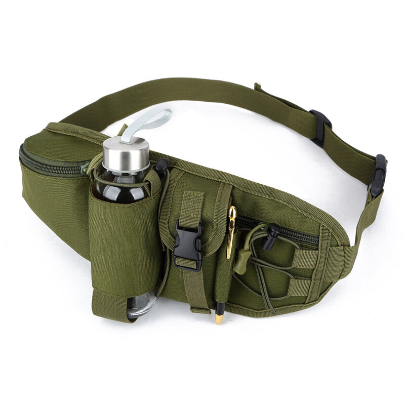 Men Nylon Casual Waterproof Sprot Outdoor Camping Waist Bag