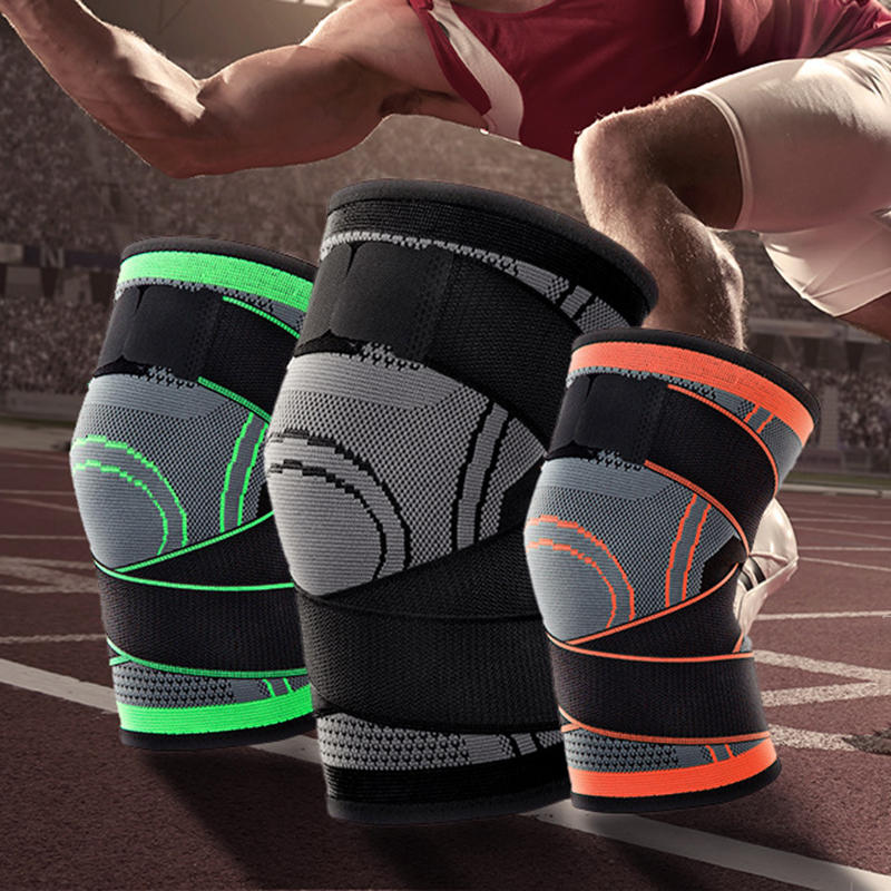 1Pcs Sports Running Basketball Mountaineering Compression Riding Knit Knee Pad