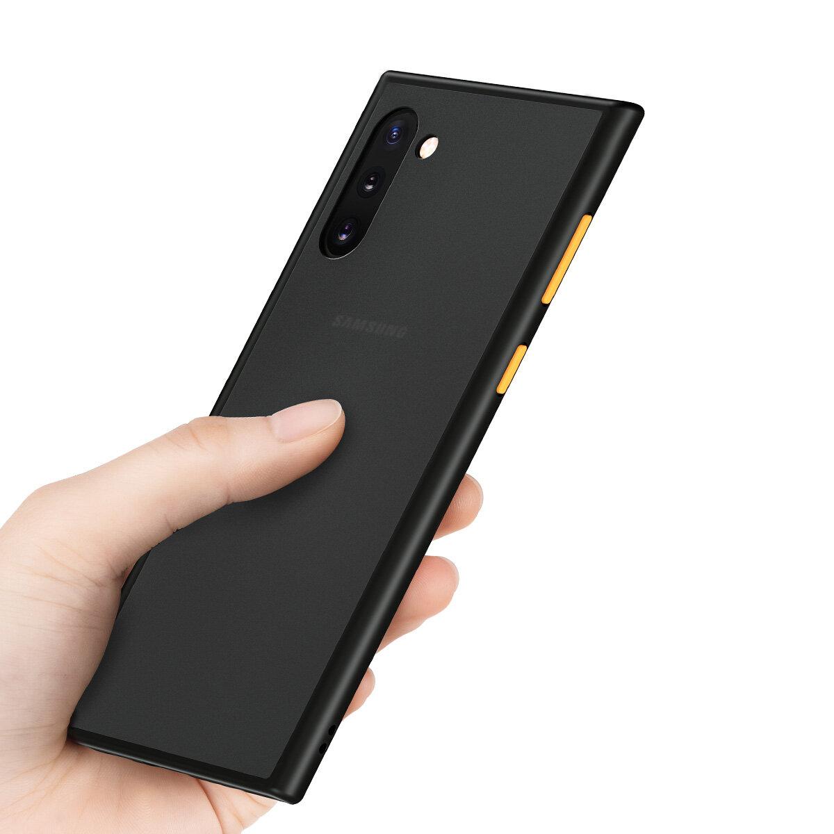 ROCK Матовый противоударный анти-отпечатков пальцев Soft ТПУ Edge + жесткий ПК Защитный Чехол для Samsung Galaxy Note 10+ / Note 10 Plus / Note10 + 5G