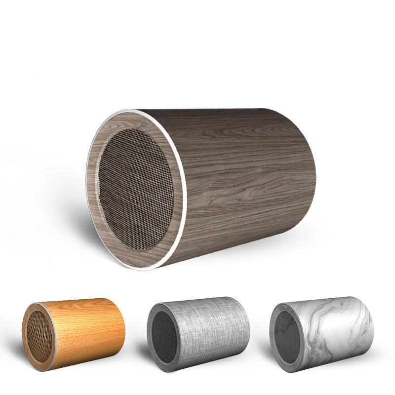 LyRay-8 Wood Grain Wireless Bluetooth 5.0 Speaker Outdoor Doodle Mini Speaker Soundbar