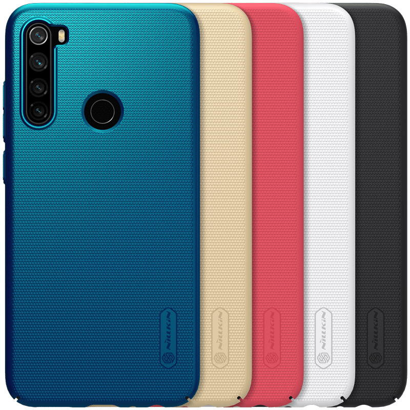 NILLKIN Frosted Shield Anti-scratch PC Hard Back Protective Case for Xiaomi Redmi Note 8