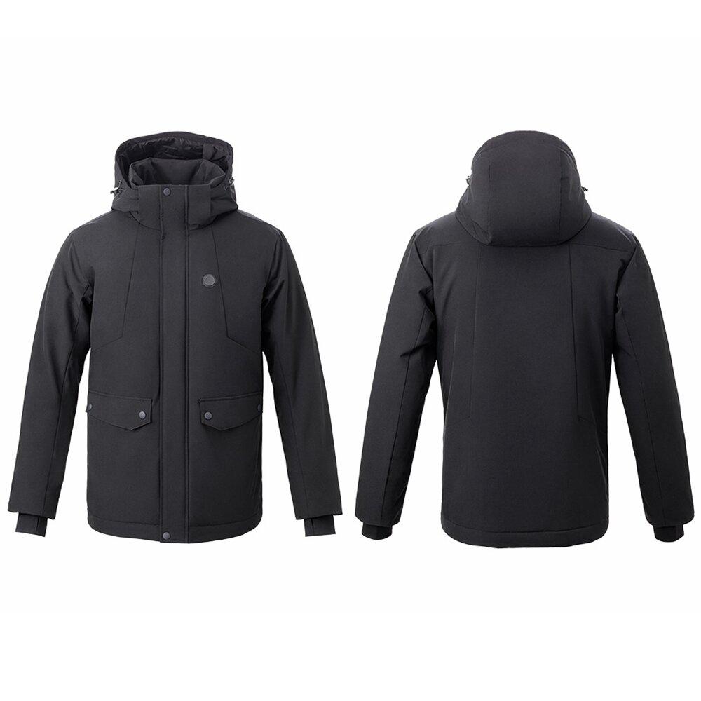 UREVO™ Man Electronic Intelligent Heating USB Hooded Heated Work Jacket Coats 4 Temperature Adjustable From Xiaomi Youpin