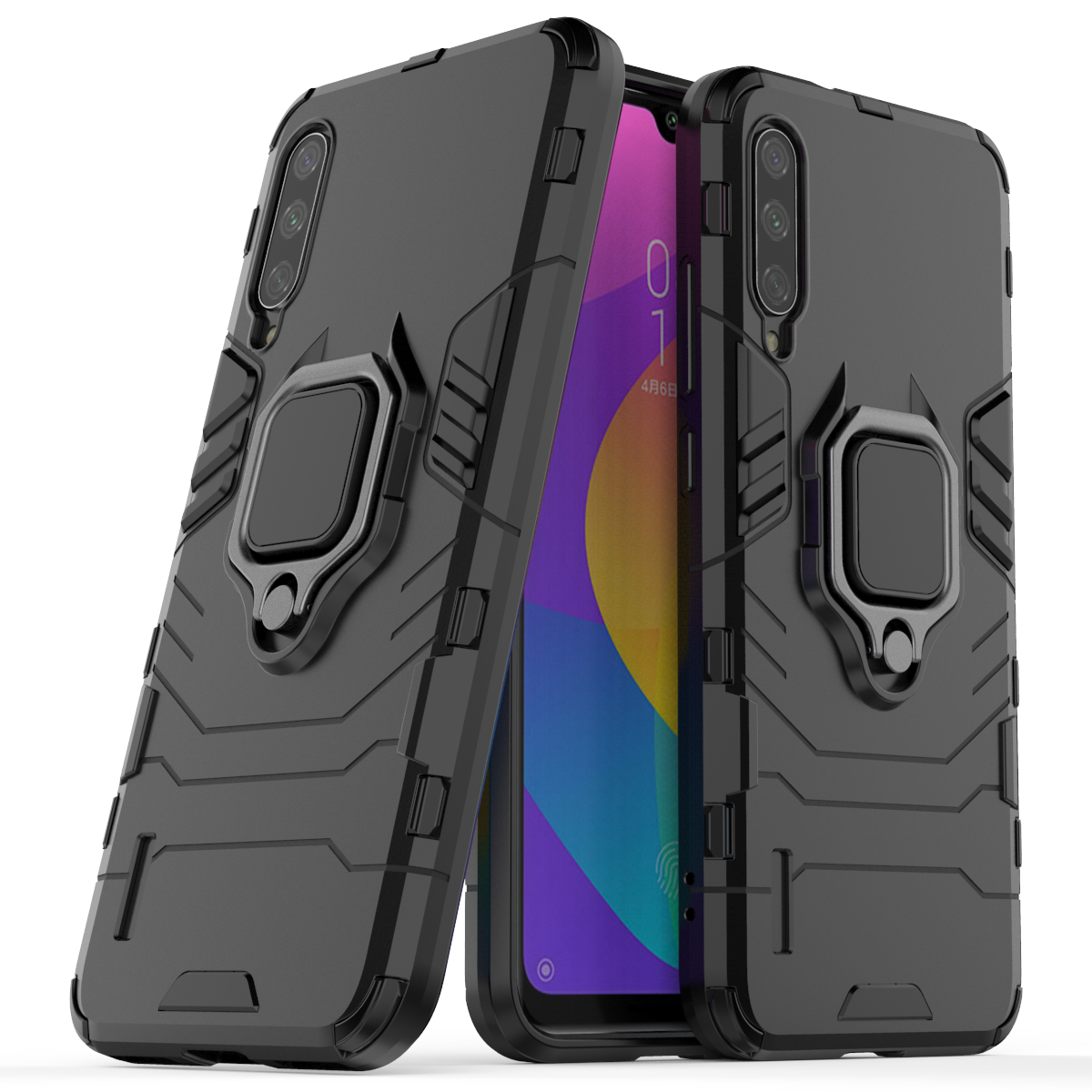 Bakeey Armor Magnetic Card Holder Shockproof Protective Case For Xiaomi Mi CC9e /Xiaomi Mi A3 6.088 inch