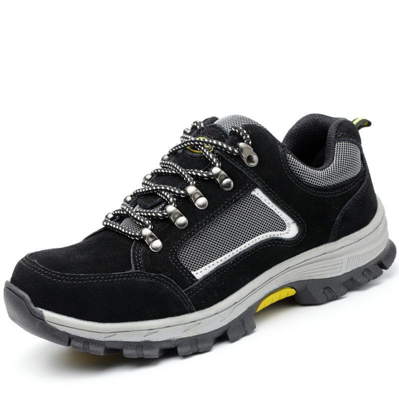 TENGOO Men's Safety Shoes Work Shoes Breathable Hiking Steel Toe Steel Sole Sneakers