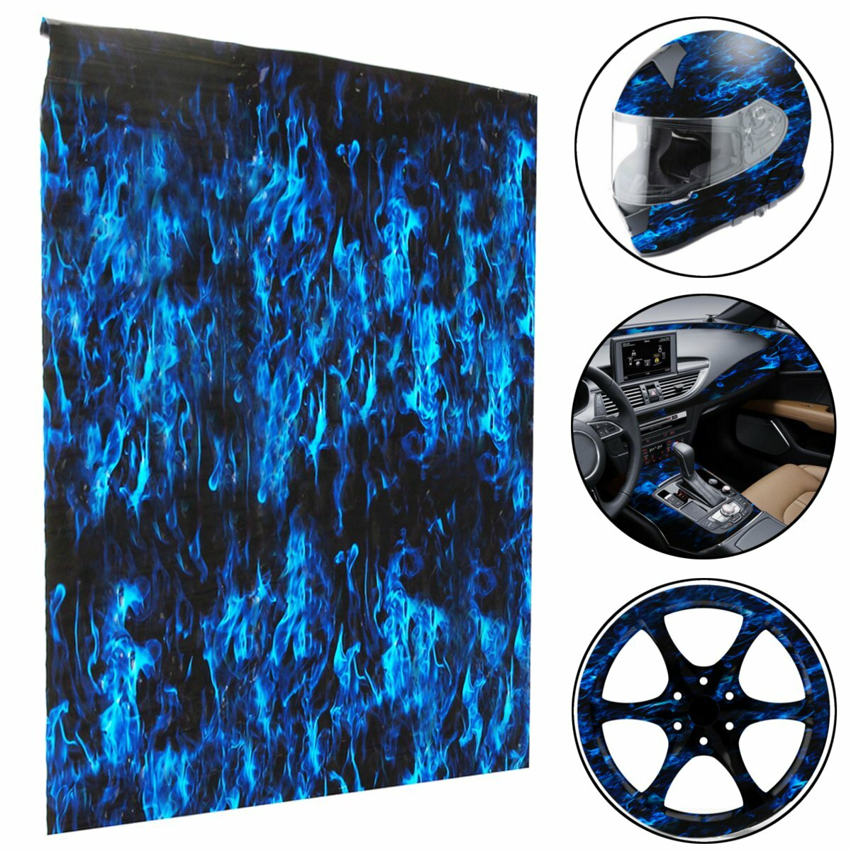 picture relating to Printable Hydrographic Film referred to as PVA Hydrographic Movie H2o Go Printing Movie Hydro Dip Blue Fireplace Design Decorations
