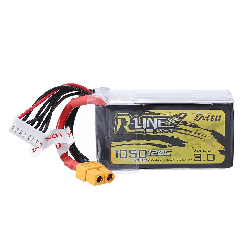 TATTU R-LINE 3.0 14.8V 1050mAh 120C 6S Lipo Battery for RC Racing Drone