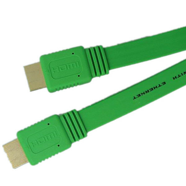 3M 14 Pin Flat High Definition Multimedia Interface Cable Type A to Type A Support 1080P 3D HDTV