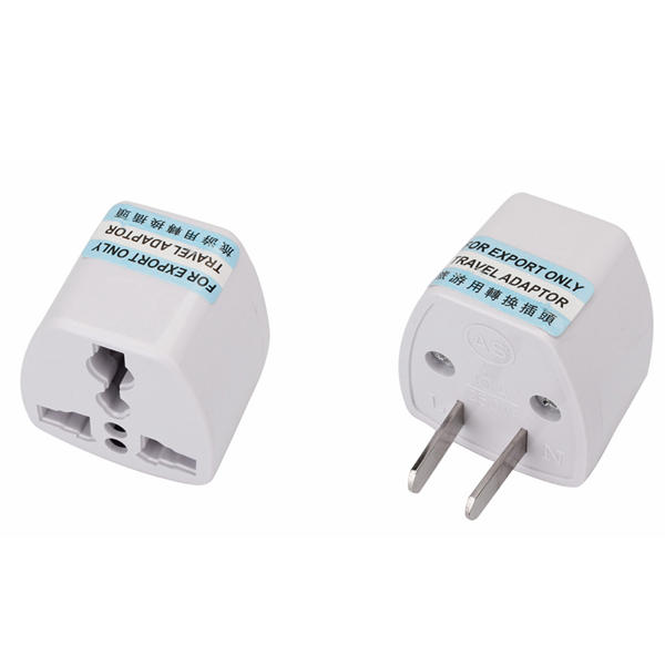 Adapter to Convert US Flat 2-Pins Connector to Round EU AC Wall Socket Plug