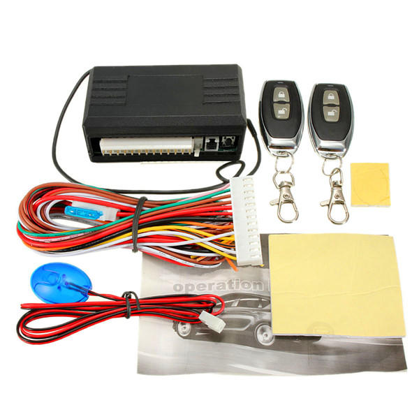 Universal 2 Car Remote Central Lock Kit Door Locking Vehicle Keyless Entry System Car Door Central Lock
