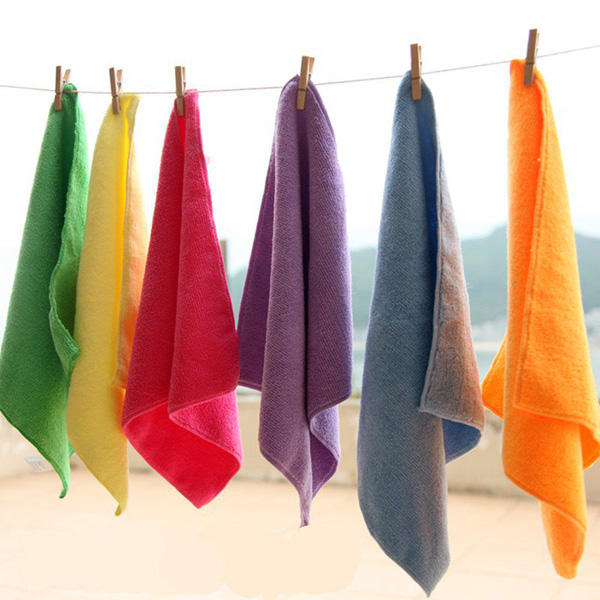 25*25cm Microfiber Absorbent Face Towel Soft Bath Washcloth