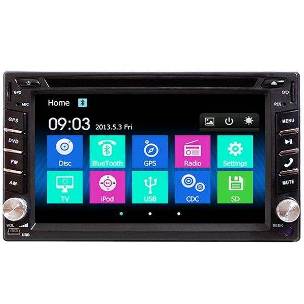 6 2 Inch Double 2din Car Stereo Dvd Player Bluetooth Gps Navigation